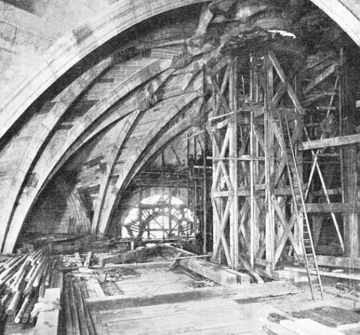 BUILDING THE TOWER VAULT, Liverpool Cathedral