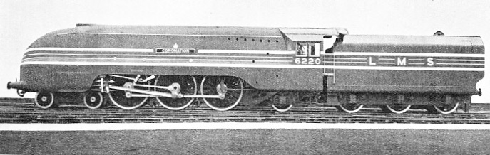 """CORONATION,"" the first of five LMS streamlined Pacifics"