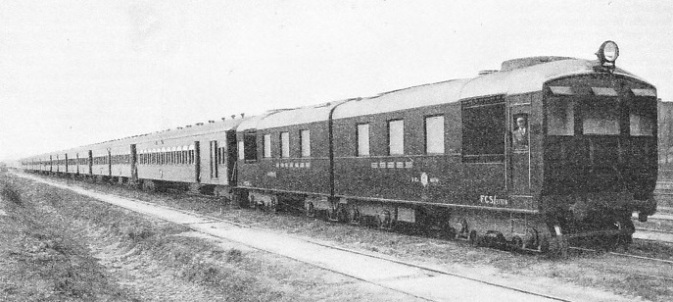 MOBILE POWER HOUSE at the head of a train on the Buenos Ayres Great Southern Railway