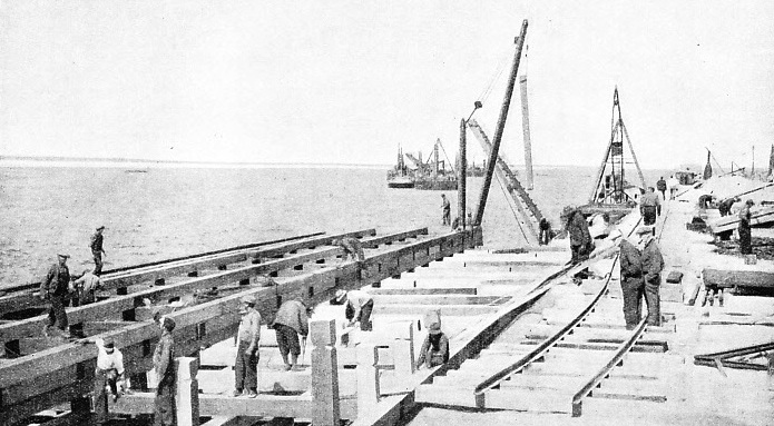 BUILDING A NEW HARBOUR, the port of Churchill, on the shores of Hudson Bay