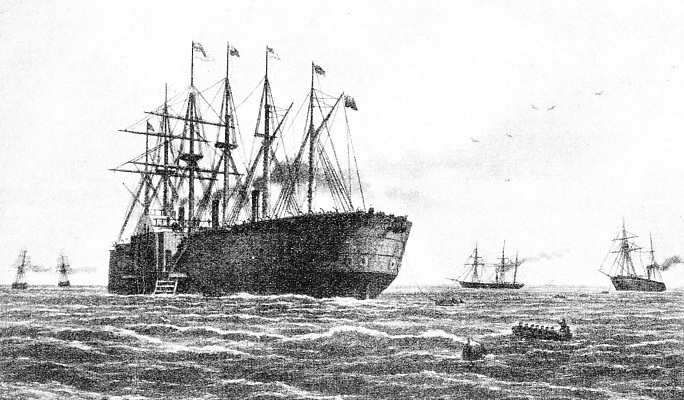 The Great Eastern, once the largest ship in the world