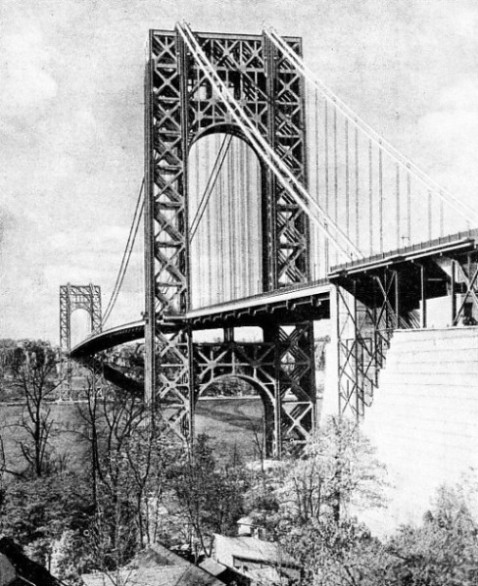 THE ANCHORAGE of the George Washington Bridge on the Manhattan side
