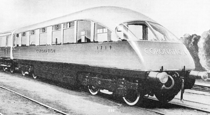 "OBSERVATION CAR of the ""Coronation"" LNER express"