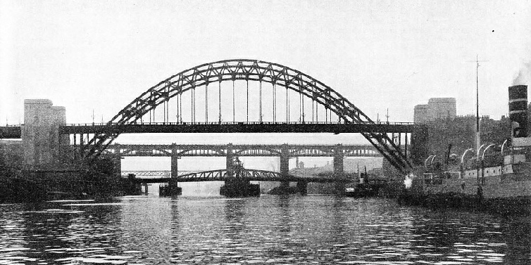 FIVE BRIDGES span the River Tyne at Newcastle