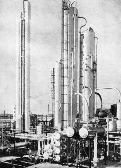 DISTILLING EQUIPMENT at the Dominguez Refinery, California