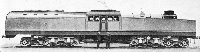 The REID-MACLEOD TURBINE LOCOMOTIVE was exhibited at the British Empire Exhibition in 1924