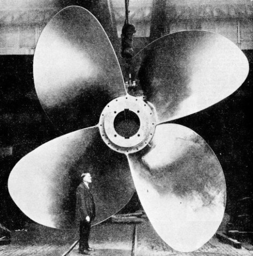 A 35-TONS PROPELLER for the R.M.S. Queen Mary