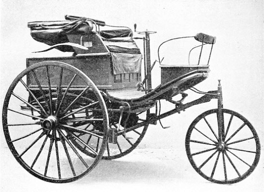 A BENZ CAR OF MORE ADVANCED DESIGN, built in 1888