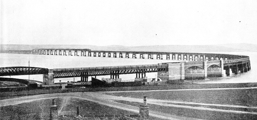 SEVENTY-FOUR SPANS, excluding the approach spans, form the second bridge across the Firth of Tay