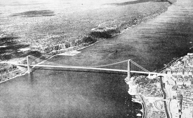 The Hudson River Spanned by the George Washington Bridge