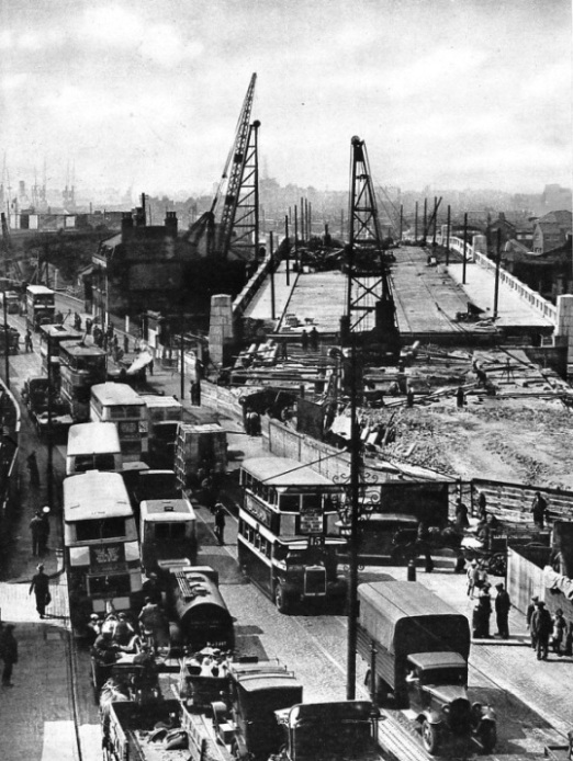 Traffic congestion on the Barking Road