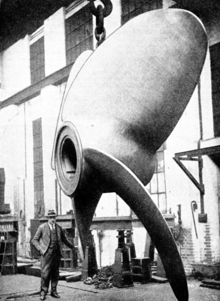 A COMPLETED PROPELLER for the quadruple-screw liner Empress of Britain