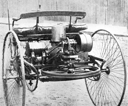 THE FIRST BENZ MOTOR TRICYCLE, built in 1885