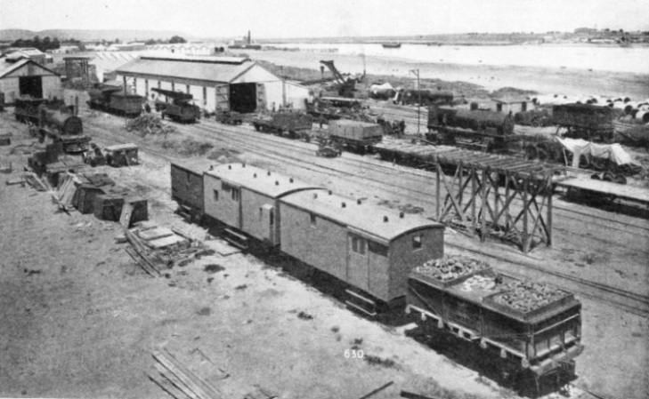 REPAIR SHOPS in connexion with the building of the Australian Transcontinental Railway were built at Port Augusta