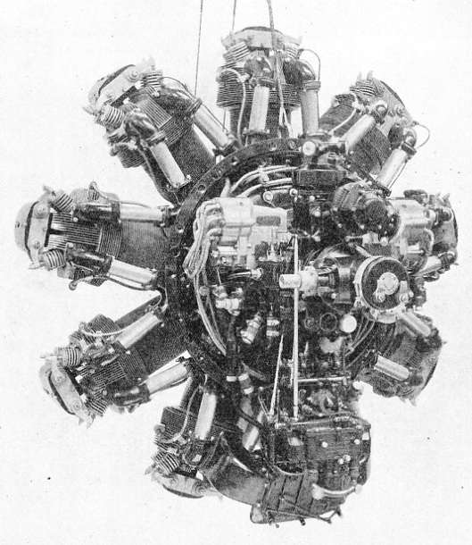 A RADIAL AIR-COOLED ENGINE of the type used in the Empire flying boats