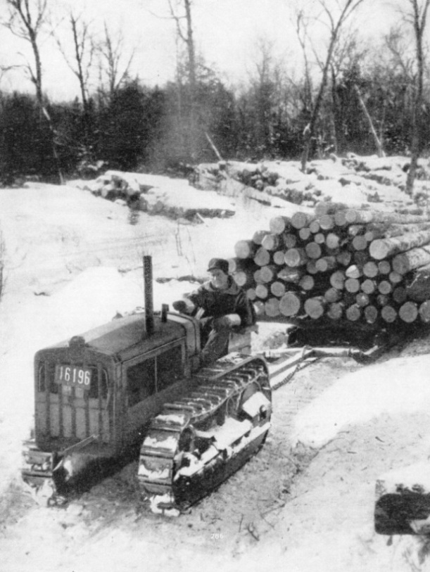 TRANSPORTING FELLED TREES in Canada