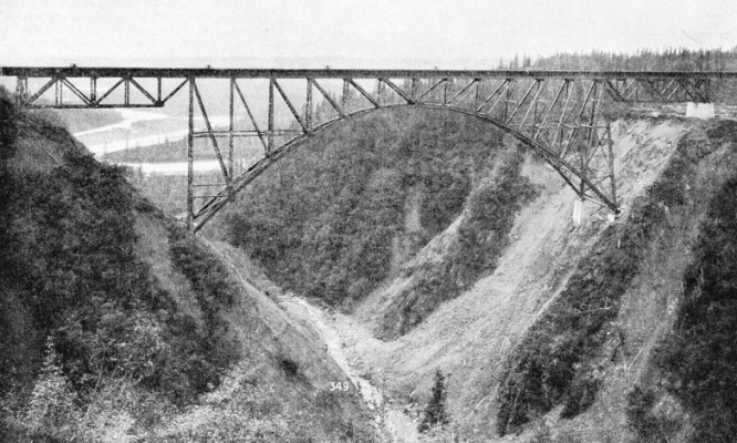 Hurricane Gulch Bridge on the Alaska Railway