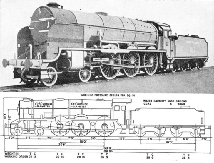 "Southern Railway express 4-6-0 ""Lord Howe"""