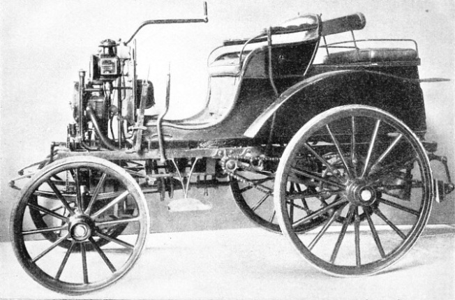 PANHARD AND LEVASSOR CAR OF 1894, built to the design of the German inventor Gottlieb Daimler