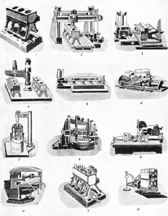 Processes in the Manufacture of Oil Engines