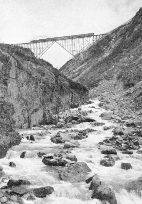 A Cantilever Bridge on the White Pass and Yukon Railway