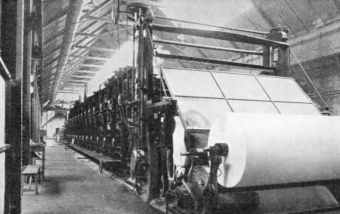 THE MACHINE DRYING SECTION of the Imperial Paper Mills