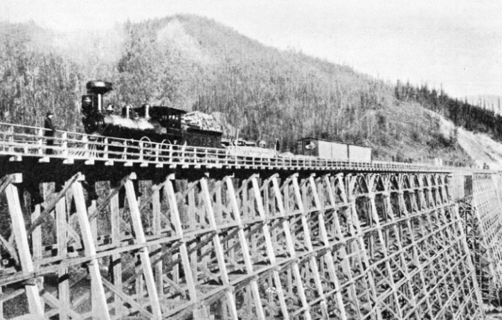 A Wooden Trestle Bridge in the Selkirk Mountains