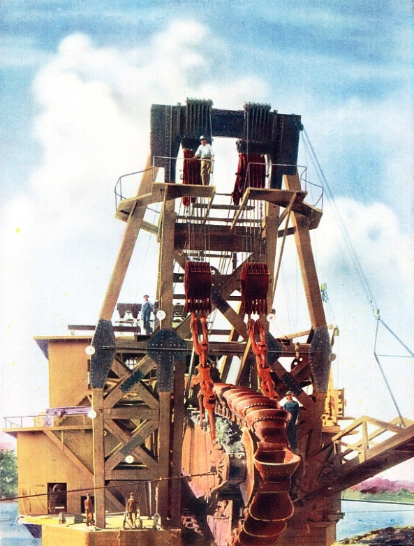 One of the Largest Gold Dredges Operating